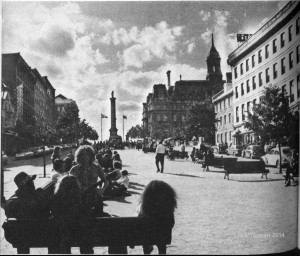 "Place-Jacques-Cartier, ""nous chantons"" - ""we sing"""