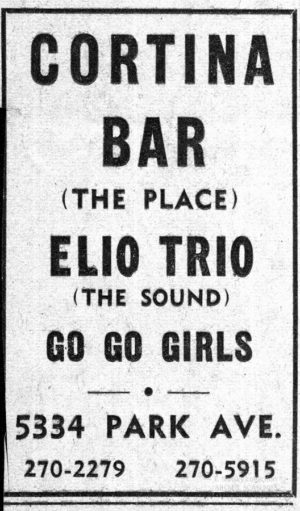 Another clipping kept by Erik Slutsky from a show he attended in the late 1960s.
