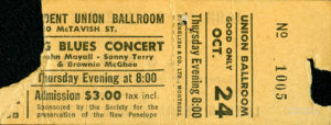 A ticket stub from the collection of Erik Slutsky.