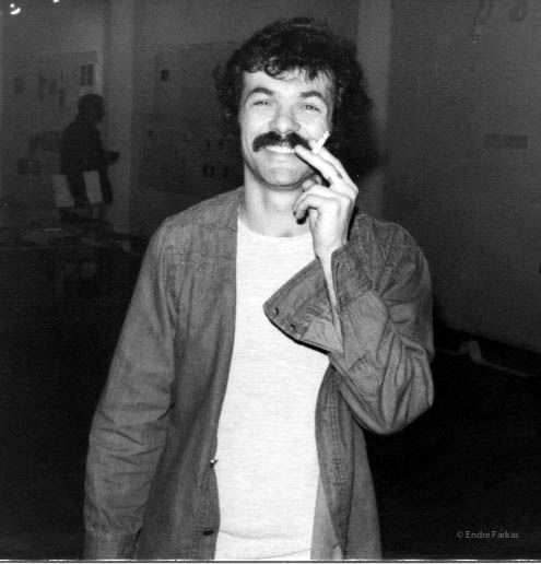 Endre Farkas at Véhicule Gallery, mid-1970s.